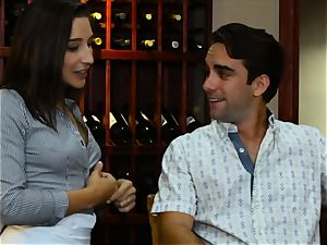Abella Danger and Lexy Rose enjoy cafe threesome