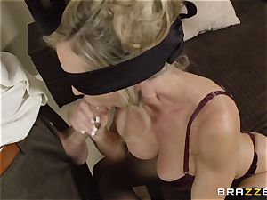 The hubby of Brandi love lets her drill a different stud