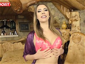 Russian stunner gets multiple climaxes from Mike Angelo