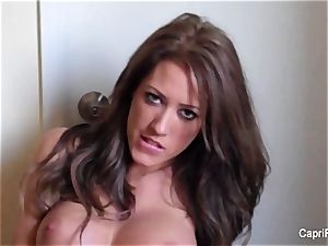 Capri Cavanni does a smoking home flick and strokes