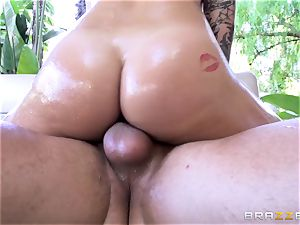Karmen Karma enjoys a mean firm nailing