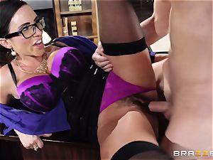 Ariella Ferrera takes a dosage from Danica Dillans guy