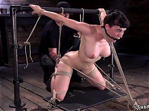 huge bra-stuffers unshaved super-bitch muff played in sadism & masochism