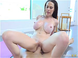big-titted dark haired Mckenzie Lee poked in her pussy