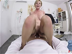 buxomy grannie gets pov drilled by her doctor