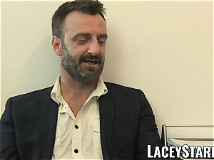 LACEYSTARR - GILF licks Pascal white spunk after intercourse