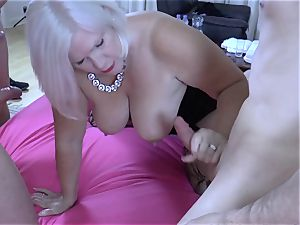 LACEYSTARR - hungry grannie gang-fucked
