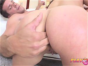 ass-fuck internal cumshot for bouncy donk biotch Ashley Adams