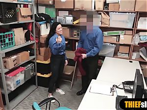 super-cute latina shoplifter gets banged by a kinky mall cop