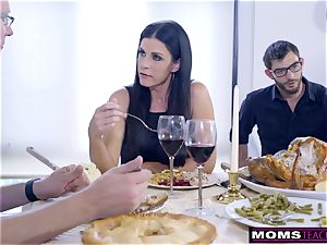 mummy drills son-in-law And gobbles creampie For Thanksgiving handle