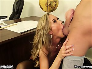 young man pulverize his big-titted adult instructor during a lesson
