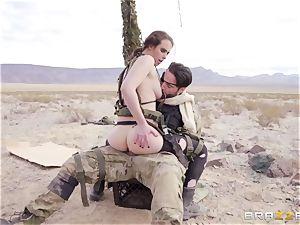 metal Gear Solid 5 anal invasion porno parody with nasty dark haired Casey Calvert