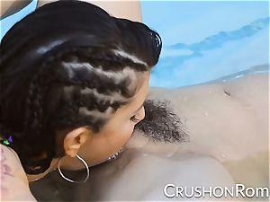 kick girls - Romi Rain and Reena Sky fuck in the pool