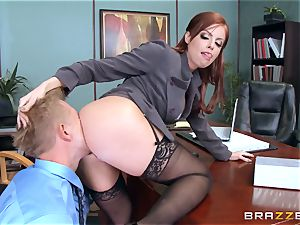 sandy-haired boss Britney Amber penetrates a horny worker