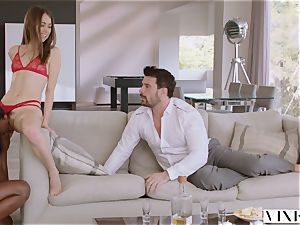 VIXEN Riley Reid has heavy threesome with Ana Foxxx and bf