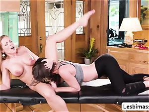 Britney Amber and Jade Nile outstanding scissor fucky-fucky and orgasm