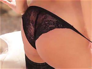 sexy Anissa Kate reveals her appetizing plump bra-stuffers