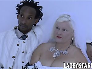 LACEYSTARR - grandma bride fed with spunk after banging