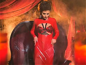 slender small Ariana Marie gorgeous rubber solo onanism