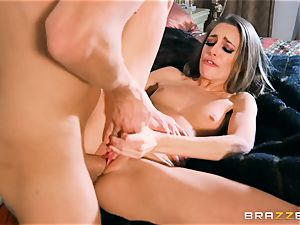 Kimmy Granger bent over and pummeled rock-hard