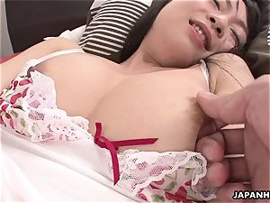 asian babe uses her romp fucktoy to get off like a doll