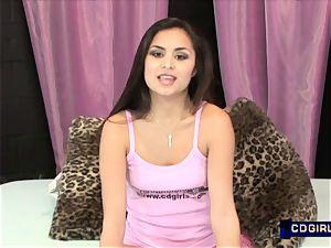 Latina teen converses then loves a magic vibro climax
