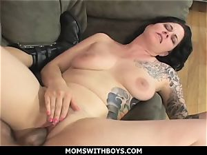 MomsWithBoys - ample boobed mummy Michelle Aston And A big chisel