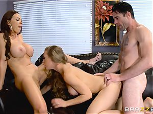 Nicole Aniston and Nikki Benz romped from the rear