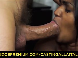 audition ALLA ITALIANA - Indian honey gets ginormous man rod anal