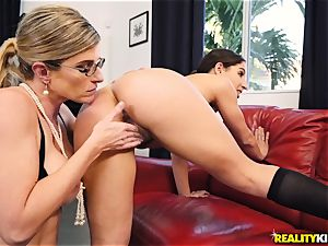 sapphic bum n vag have fun with Cory pursue and Abella Danger
