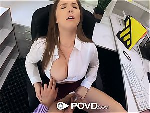 POVD big-titted secretary Lena Paul romps for promotion