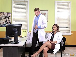 doctor Keisha Grey pokes one of her crazy red-hot playmates
