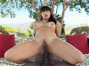 Mia Li gets her bum pounded by a dark-hued knob