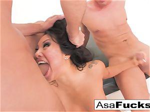 Asa Akira has a super-steamy ass fucking threesome