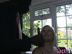 Lacey Starr pummeled firm by a black boy