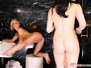 pleasing the dominatrix minge slot - Cherie Deville, Jojo smooch and Aria Alexander