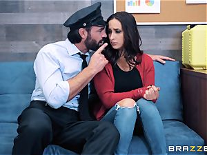 Ashley Adams takes on cop penis