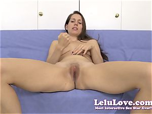 opening up my vulva for you during a jerkoff