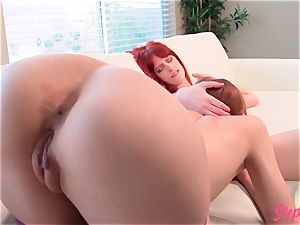super-naughty redhead Stepsisters sizzling sapphic activity