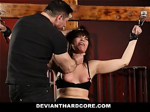 DeviantHardcore-Hot cougar rubbed and handcuffed To Cross