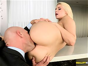 Anikka Albrite jammed by Johnny Sins