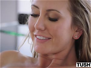 TUSHY Brett Rossi's first-ever off the hook assfuck!
