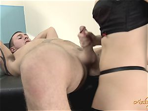 wonderful Ashley Fires throws off this super-naughty trouser snake