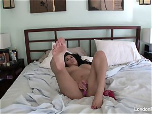 huge-boobed London's home vid masturbation