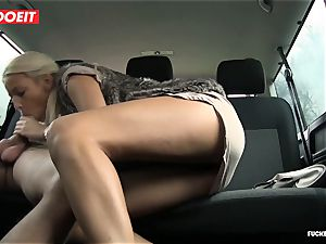LETSDOEIT -steaming light-haired Gets jism All Over Her bootie In taxi
