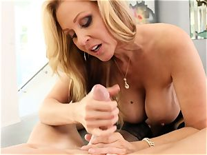blond cougar Julia Ann gets poked in marvelous lingerie