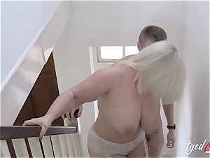 AgedLovE big-chested Lacey Starr hard-core and deep throat