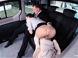 ravaged IN TRAFFIC school damsel gets smashed by driver