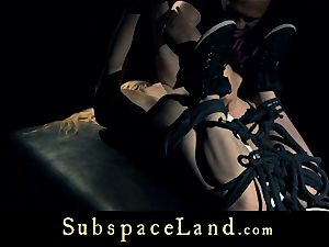 sub woman towheaded pleasured and disciplined in subjugation