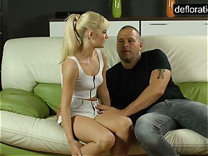 ash-blonde is a cherry but likes railing a spunk-pump